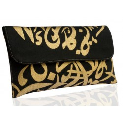 Calligraphy Clutch (Aswad)