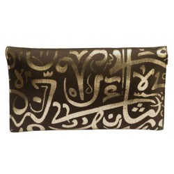 Calligraphy Clutch (Bronzy Brown)
