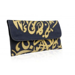 Calligraphy Clutch (Midnight Blue)
