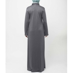 Crescent -Slate Grey Abaya Dress