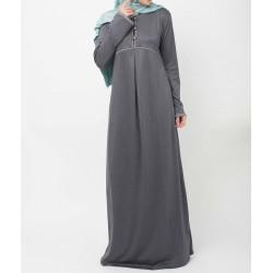 Crescent -Slate Grey Abaya Dress