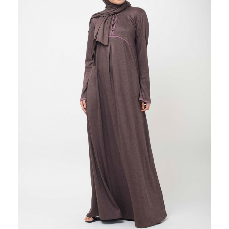 Crescent- Bronzy Pink Abaya Dress