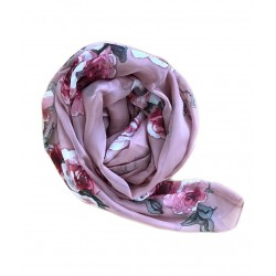 Vintage Anemone Chiffon Hijab (Woodrose)