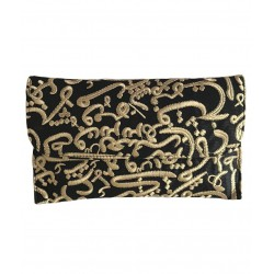 Signature Calligraphy Clutch Bag (Aswad)