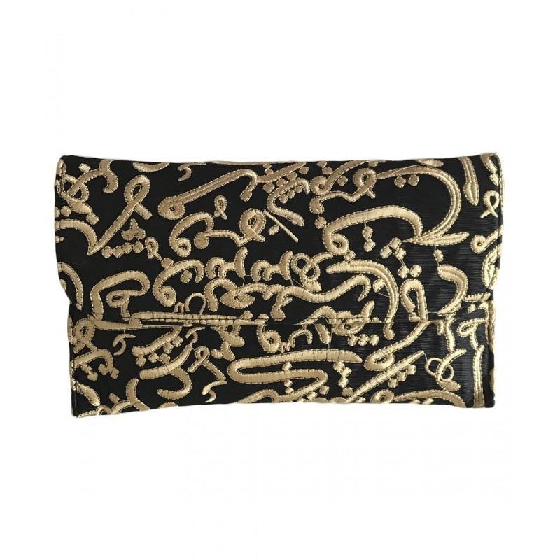 Signature Calligraphy Clutch Bag (Aswad)