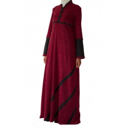 Cosy Claret - red wool