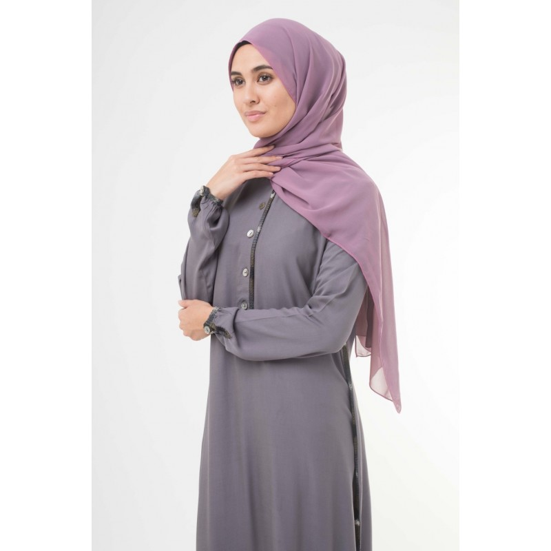 Soft Grape Crepe Hijab