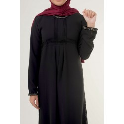 Vintage Crepe Black Abaya