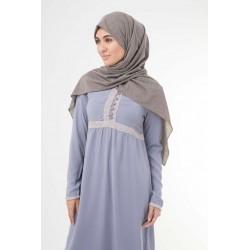 Lavender Grey Abaya
