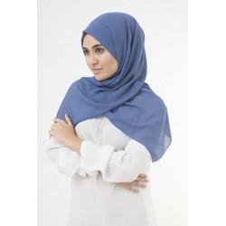 Aegean Blue Crepe Hijab