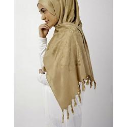 Caramel Gold Calligraphy Hijab