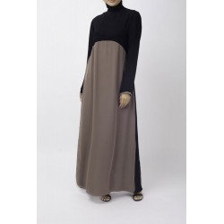 Black Biscuit Block Abaya