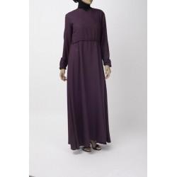 Magenta Flare Abaya