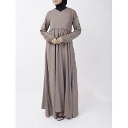 Taupe Flare Abaya